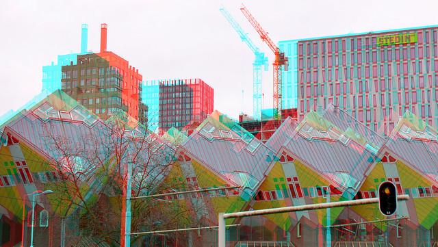 Kubus-woningen Rotterdam 3D