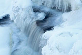 Honeoye Falls frozen but still flowing Honeoye, NY | by AsWeTravel16
