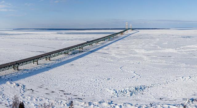 Gathered to walk on Blue Ice