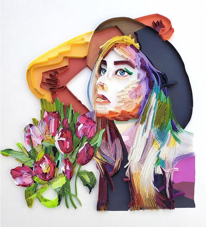 On-Edge Paper Portrait