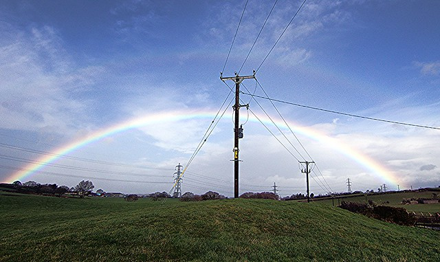 'Electrical Rainbow?' near Llanfair Talhaiarn, Conwy, North Wales - Happy Telegraph Tuesday (2 of 2) [HTT] Everyone!