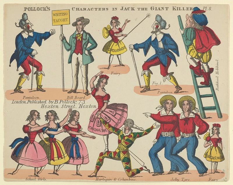 Benjamin Pollock - Characters, from Jack and the Giant Killer, Plate 8 for a Toy Theater, 1870–90