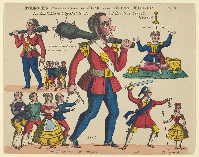 Benjamin Pollock - Characters, from Jack and the Giant Killer, Plate 3 for a Toy Theater, 1870–90