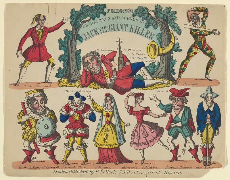 Benjamin Pollock - Characters and Scenes, from Jack and the Giant Killer, Plate 1 for a Toy Theater, 1870–90