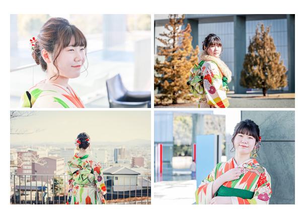 成人式のロケーション撮影 20才記念の振袖姿 愛知県豊田市