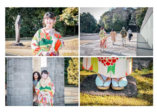 成人式のロケーション撮影 愛知県豊田市 20才記念の振袖