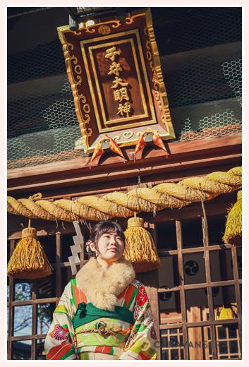 成人を記念して拳母神社へお参り 愛知県豊田市