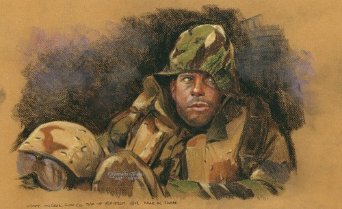 Capt McCrae by Sgt Charles G. Grow, USMC
