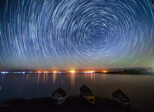 Star trails @ Tanguar Haor