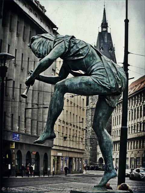 Sculpture group, on Senovazne Plaza, Prague.