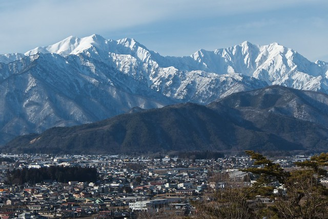 Jiigatake and Kashima-Yari in winter