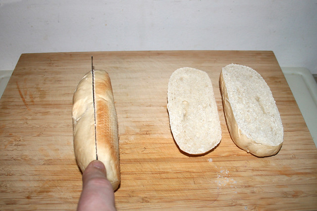 11 - Half baguettes / Baguettes aufschneiden