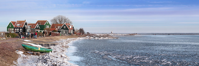 Traditional Ice-fishing on Marken island Anno 2021