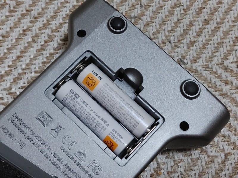USBまたは単3電池×2で駆動