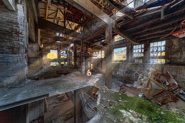 weird scenes inside the cement works