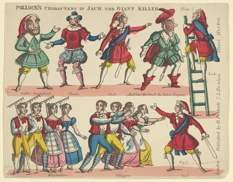 Benjamin Pollock - Characters, from Jack and the Giant Killer, Plate 5 for a Toy Theater, 1870–90