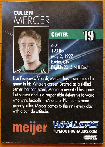 Cullen Card Whalers back