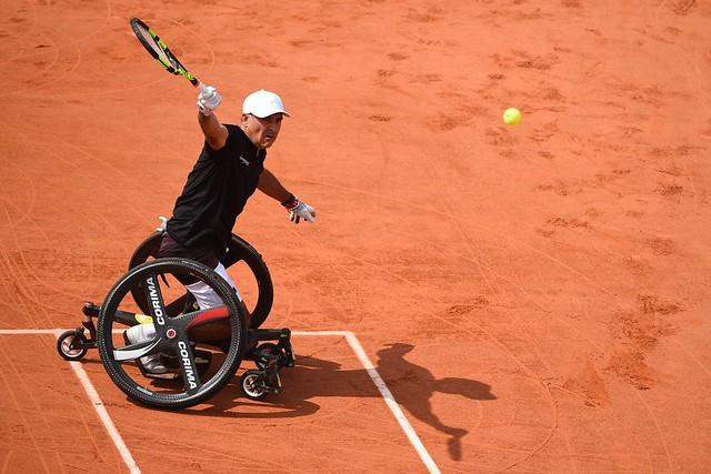 Stephane Houdet, Roland Garros 2018, Simple Messieurs Tennis Fauteuil, 1/2 Finale, Photo : Corinne Dubreuil / FFT