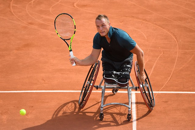 Nicolas Peifer, Roland Garros 2018, Simple Messieurs Tennis Fauteuil, 1er Tour, Photo : Pauline Ballet / FFT