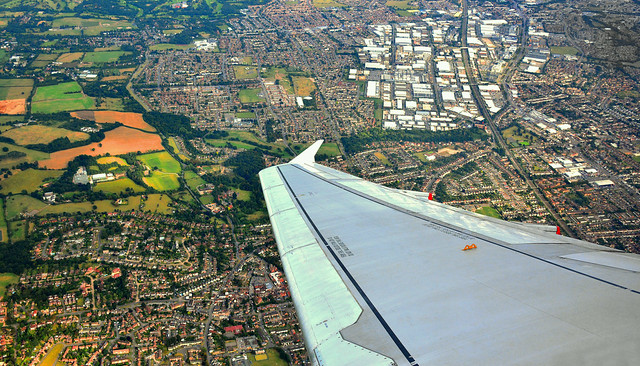Passing Slough after leaving Heathrow