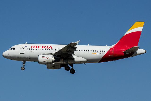 EC-MFP | Iberia | Airbus A319-111 | CN 998 | Built 1999 | MAD/LEMD 26/09/2019 | ex F-GRHC
