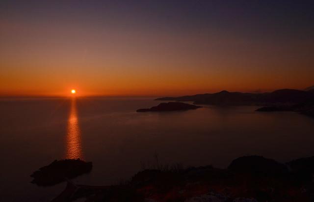 Sunset Sveti Stefan