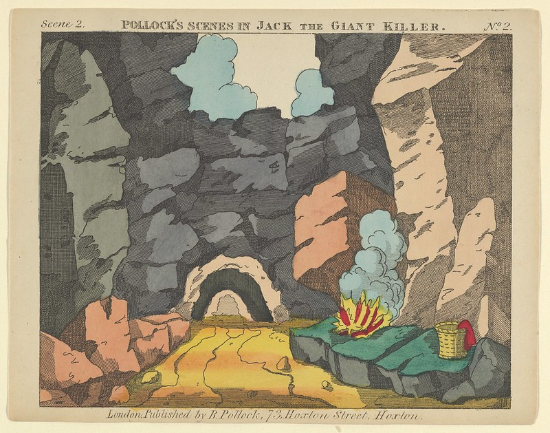 Benjamin Pollock - Scene 2, from Jack and the Giant Killer, Scenes for a Toy Theater, 1870–90