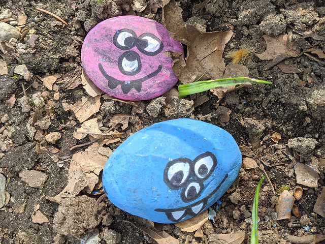 Goofy monster pebbles