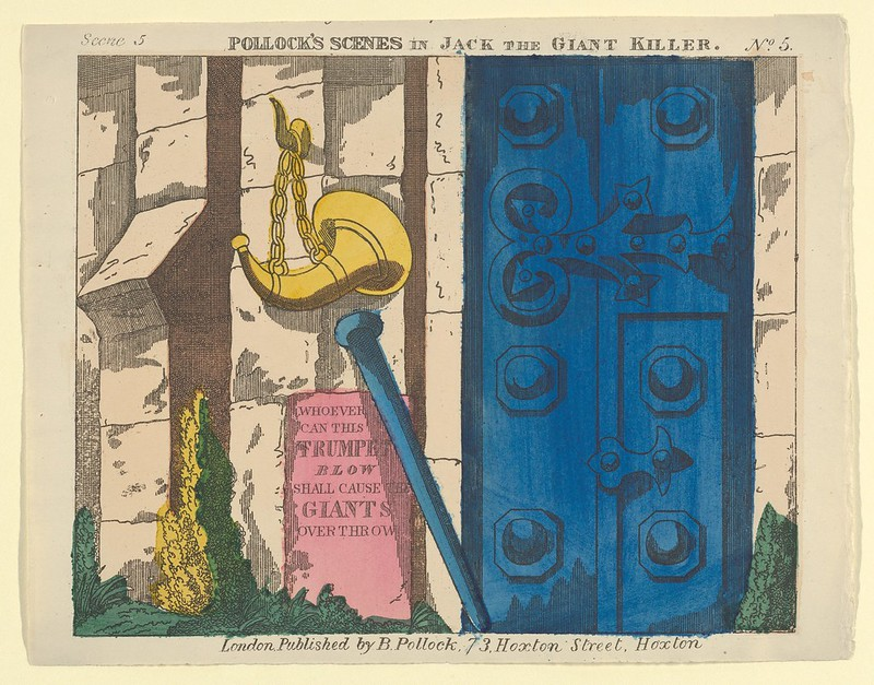 Benjamin Pollock - Scene 5, from Jack and the Giant Killer, Scenes for a Toy Theater 1870–90
