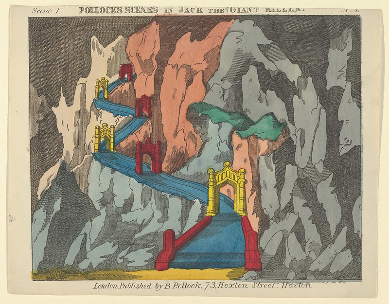 Benjamin Pollock - Scene 1, from Jack and the Giant Killer, Scenes for a Toy Theater, 1870-90