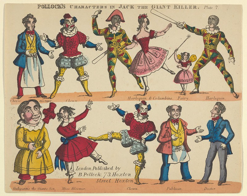 Benjamin Pollock - Characters, from Jack and the Giant Killer, Plate 7 for a Toy Theater, 1870–90