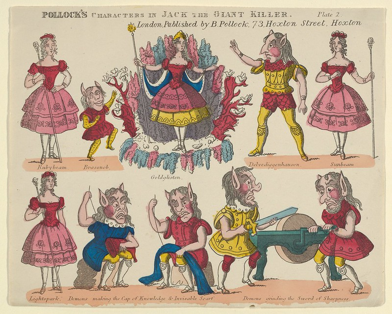 Benjamin Pollock - Characters, from 'Jack the Giant Killer', Plate 2 for a Toy Theater, 1870–90