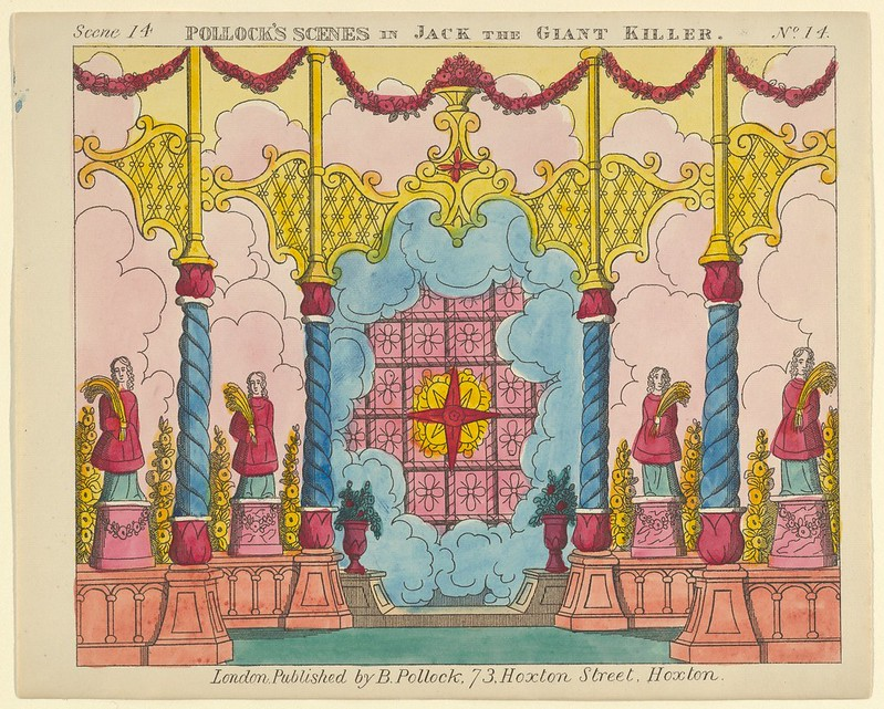 Benjamin Pollock - Scene 14, from Jack and the Giant Killer, Scenes for a Toy Theater, 1870–90