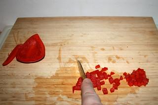 09 - Dice bell pepper / Paprika würfeln