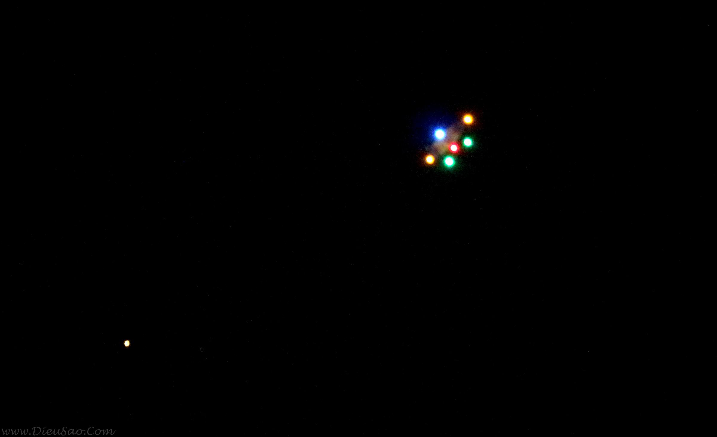Diều sáo lắp đèn led thả ban đêm
