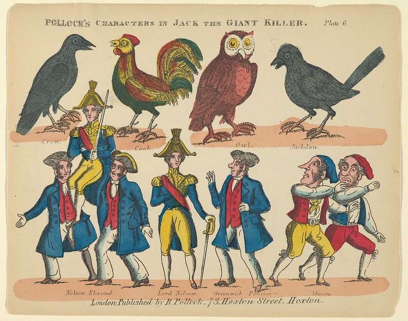 Benjamin Pollock - Characters, from Jack and the Giant Killer, Plate 6 for a Toy Theater, 1870–90