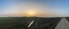 Saharastaubatmosphärenpanorama