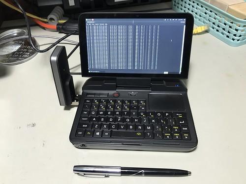 GPD MicroPC running Ubuntu MATE