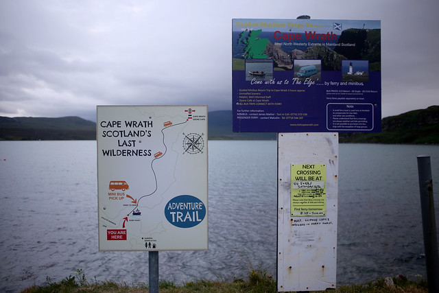 Cape Wrath bus and ferry, Keoldale