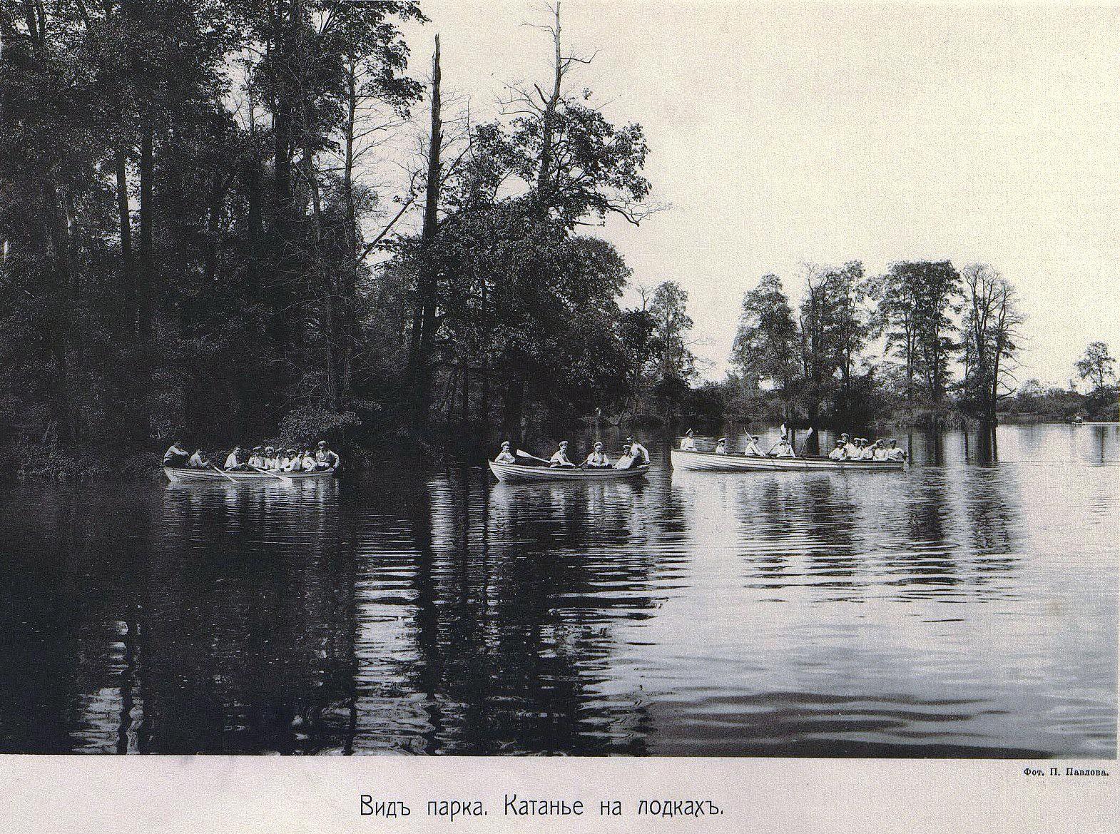 49. Вид парка. Катанье на лодка