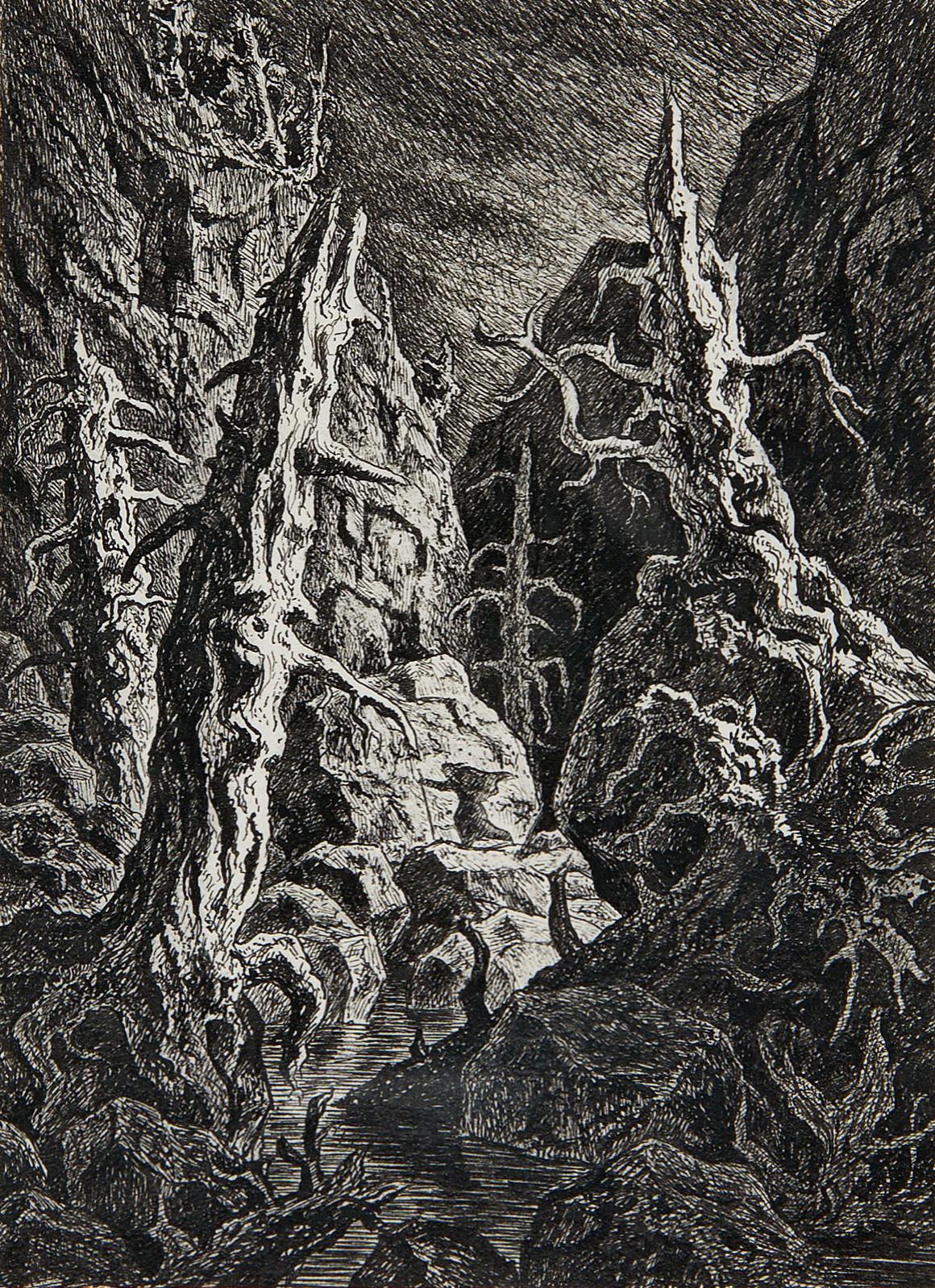 Fritz Schwimbeck - Rocky landscape, 1920