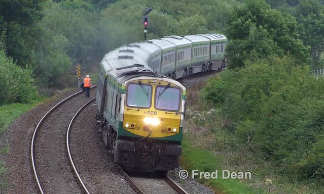 Irish Rail 228 at Rathmorgan.