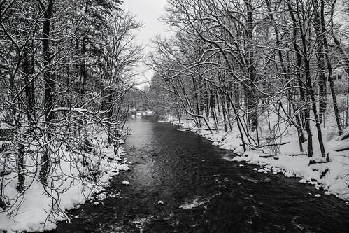 smack53 winter wintertime winterseason winterscenery snow snowfall snowscape snowy snowstorm boonton newjersey morriscounty lake river rockawayriver nikon d3100