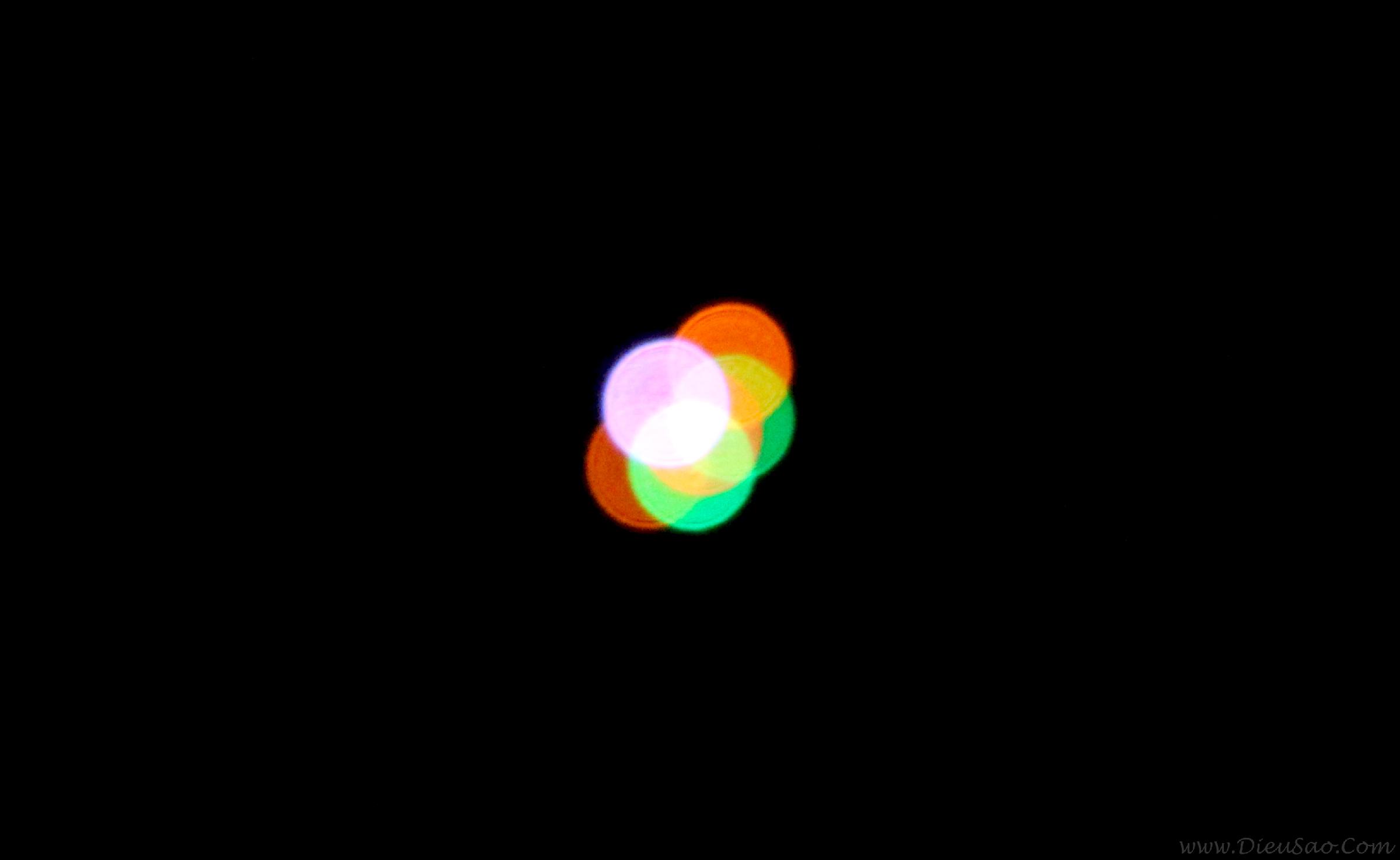 Ánh sáng đèn led trên diều