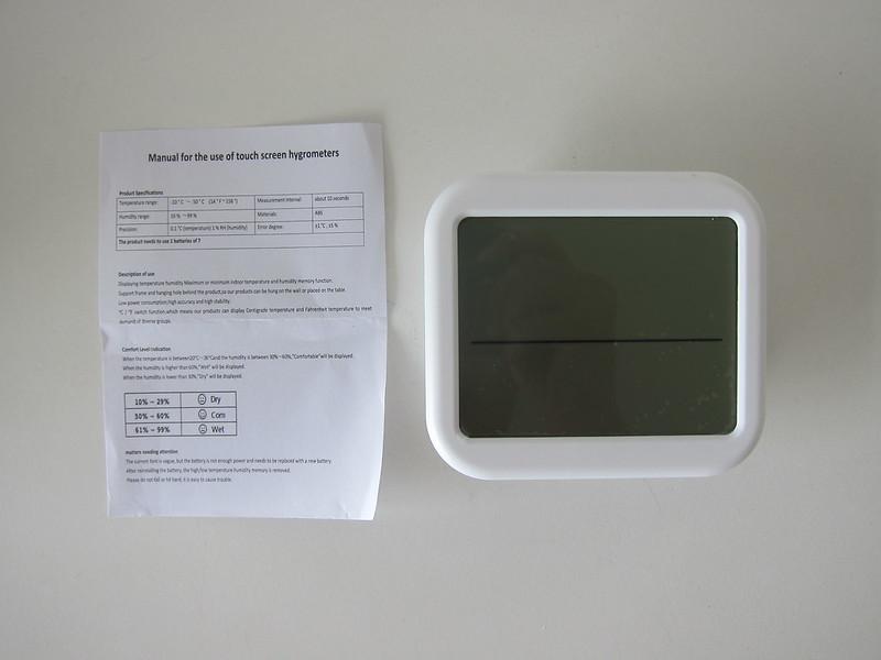 ORIA Digital Hygrometer Thermometer Display - Box Contents