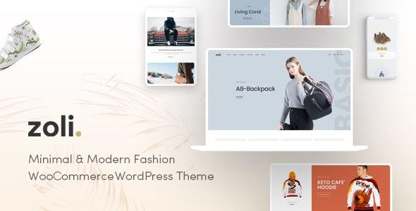 Zoli Minimal Fashion WordPress Theme Themelexus
