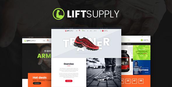 LiftSupply Single Product WordPress Theme Themelexus