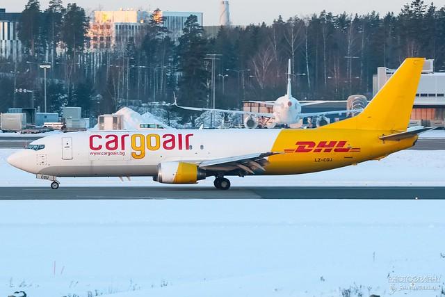 LZ-CGU Cargoair Boeing B737-400F, EFHK, Finland