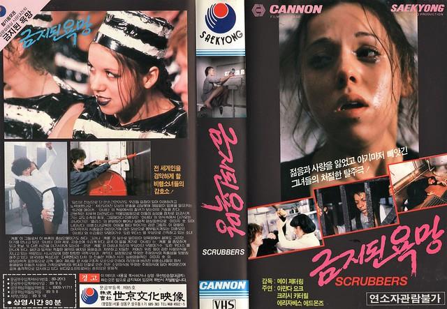 Seoul Korea vintage VHS cover art for Mai Zetterling cult classic