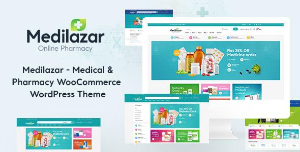 Medilazar Pharmacy WooCommerce WordPress Theme Themelexus